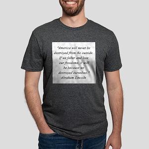 Lincoln - Never Destroyed Mens Tri-blend T-Shirt
