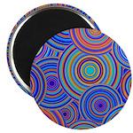 Blue Orange Retro Pattern Magnet