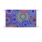 Blue Orange Retro Pattern Banner