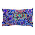 Blue Orange Retro Pattern Pillow Case