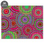 Pink Green Retro Pattern Puzzle