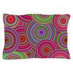 Pink Green Retro Pattern Pillow Case