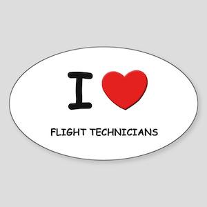 I love flight technicians Oval Sticker