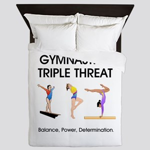 TOP Gymnastics Slogan Queen Duvet
