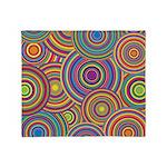 Rainbow Retro Circles Pattern Throw Blanket