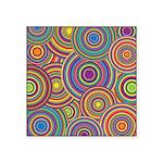 Rainbow Retro Circles Pattern Sticker