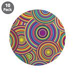 Rainbow Retro Circles Pattern 3.5