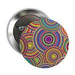 Rainbow Retro Circles Pattern 2.25