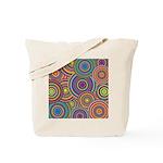 Rainbow Retro Circles Pattern Tote Bag