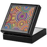 Rainbow Retro Circles Pattern Keepsake Box