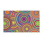 Rainbow Retro Circles Pattern Wall Decal