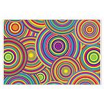 Rainbow Retro Circles Pattern Posters