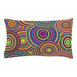 Rainbow Retro Circles Pattern Pillow Case
