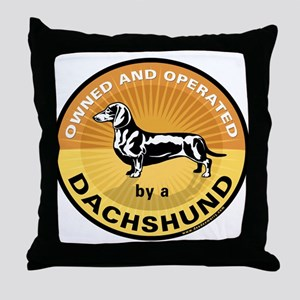 Owned and Operated by a Dachs Throw Pillow