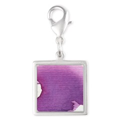 Little chakra tree Sahasrara Silver Square Charm