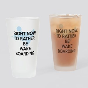 Rather be wakeboarding Drinking Glass