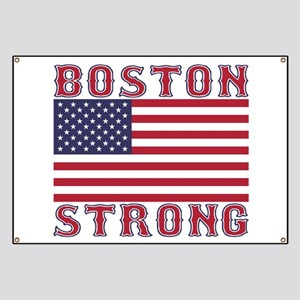 BOSTON STRONG U.S. Flag Banner