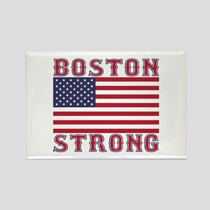 BOSTON STRONG U.S. Flag Rectangle Magnet