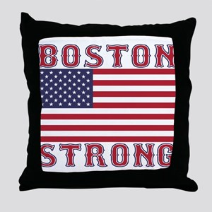 BOSTON STRONG U.S. Flag Throw Pillow