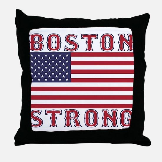 BOSTON STRONG U.S. Flag Throw Pillow