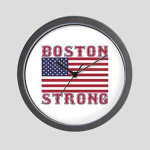 BOSTON STRONG U.S. Flag Wall Clock
