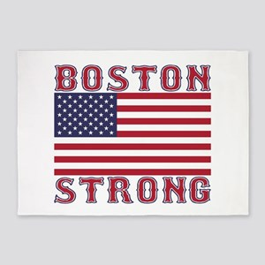 BOSTON STRONG U.S. Flag 5'x7'Area Rug