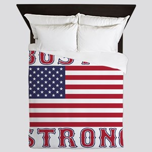 BOSTON STRONG U.S. Flag Queen Duvet