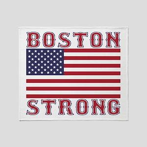 BOSTON STRONG U.S. Flag Throw Blanket