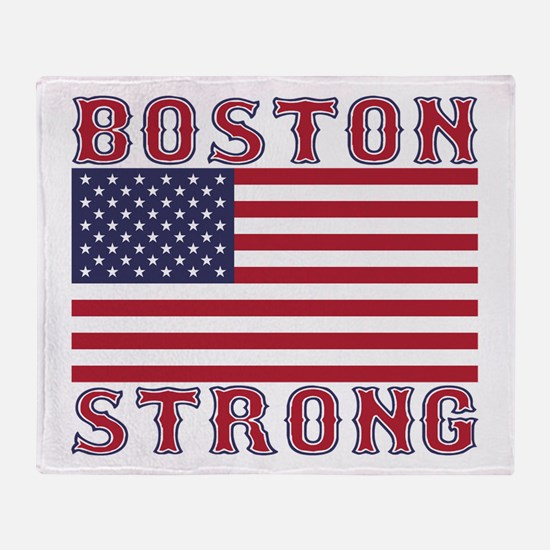 BOSTON STRONG U.S. Flag Throw Blanket