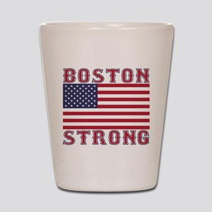 BOSTON STRONG U.S. Flag Shot Glass