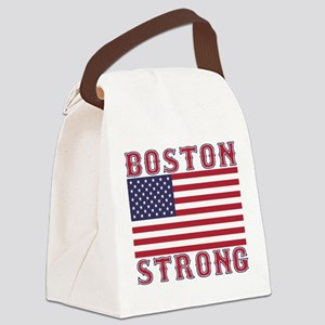 BOSTON STRONG U.S. Flag Canvas Lunch Bag