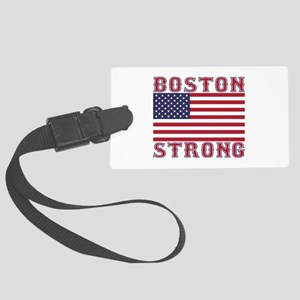 BOSTON STRONG U.S. Flag Luggage Tag