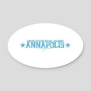 USNAannapolis Oval Car Magnet