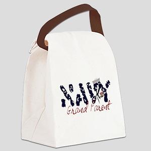 navygrandparent Canvas Lunch Bag