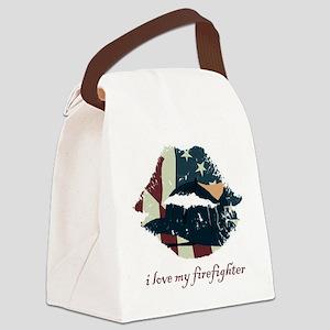 firefighterkiss Canvas Lunch Bag