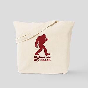 Bigfoot (Sasquatch) ate my bacon! Tote Bag