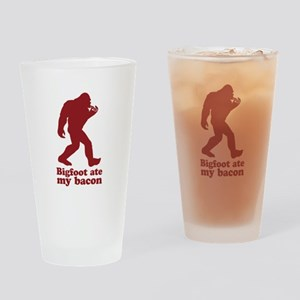 Bigfoot (Sasquatch) ate my bacon! Drinking Glass