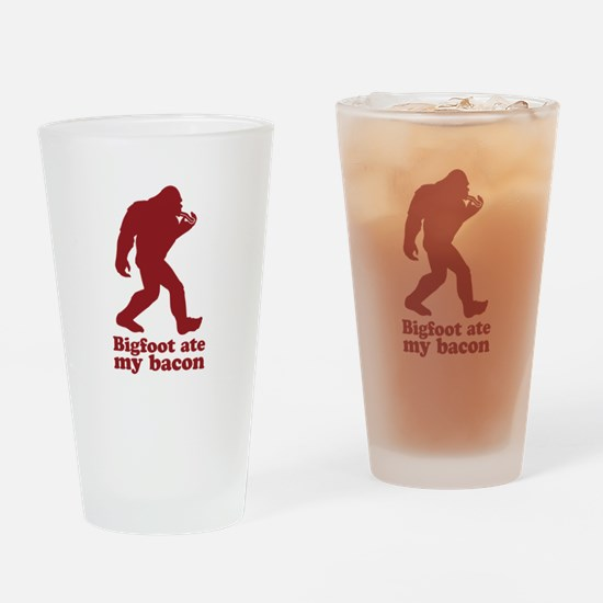 Bigfoot (Sasquatch) ate my bacon! Drinking Glass
