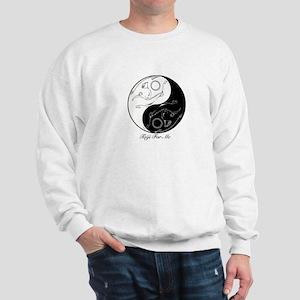 Tribal cats Yin Yang Sweatshirt