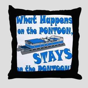 On The Pontoon Throw Pillow