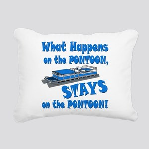 On The Pontoon Rectangular Canvas Pillow