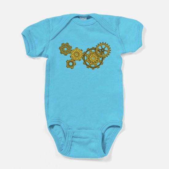 Woven Clockwork Dark Baby Bodysuit