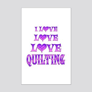 Love Love Quilting Mini Poster Print