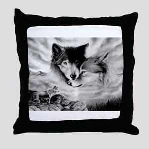 Wolves Throw Pillow