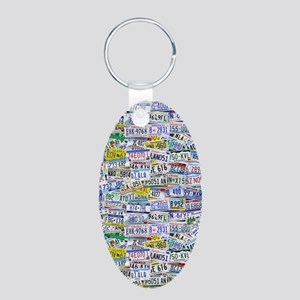 Fully Licensed Aluminum Oval Keychain