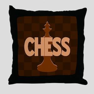 King of Chess Throw Pillow