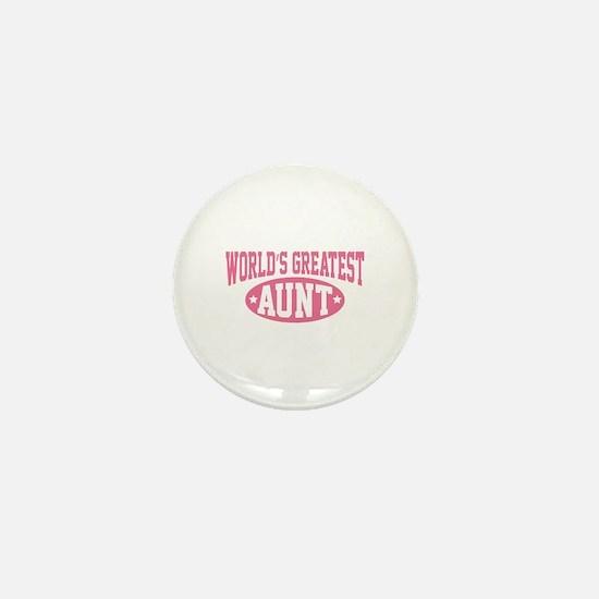 World's Greatest Aunt Mini Button