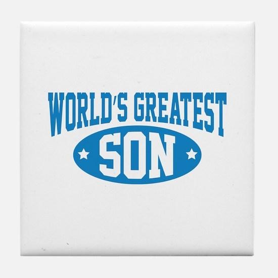 World's Greatest Son Tile Coaster