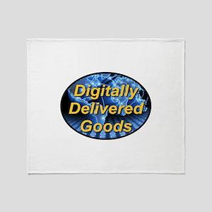 Digitally Delivered Goods Throw Blanket