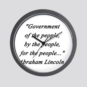 Lincoln - Of the People Wall Clock